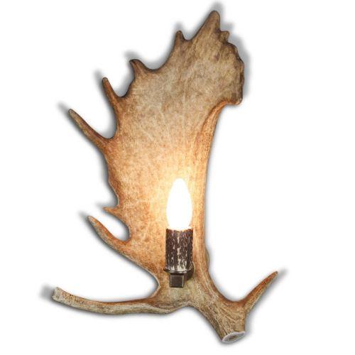 Nástěnná lampa 1537213 s parohovou objímkou
