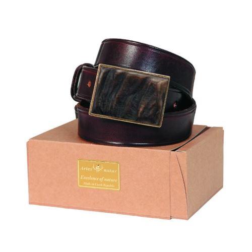Pásek 30 mm s mufloním rohem v obdélníkové přezce