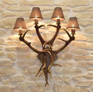 Lampa nástěnná 4 svíčky,  dřevo č. 13 starodřevo