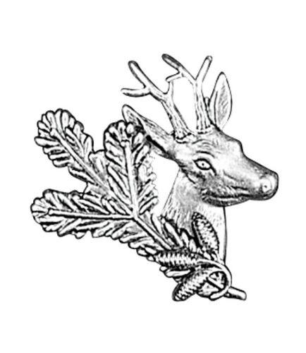 Odznak ARTURE srnec s úlomkem a šiškami