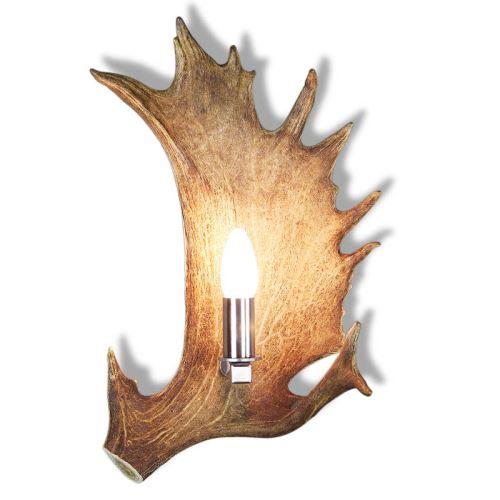 Nástěnná lampa větší s nerezovou objímkou