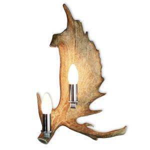 Nástěnná lampa dančí,2sv.,staromosaz
